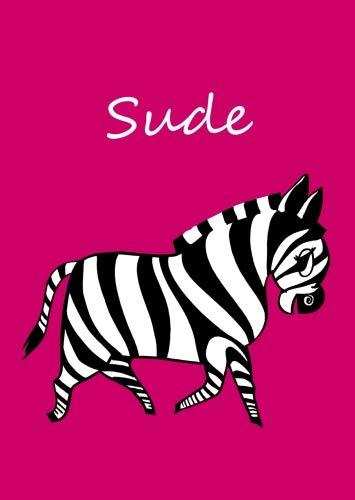 Sude: personalisiertes Malbuch / Notizbuch / Tagebuch - Zebra - A4 - blanko