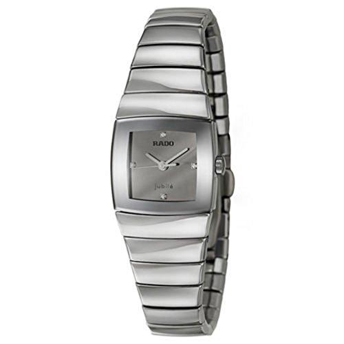 Rado Sintra Jubile Ceramos Womens Quartz Watch Silver Dial Calendar R13722702