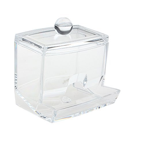 Ogquaton Caja de organizador de algodón acrílico cosmético Caja de almacenamiento de maquillaje