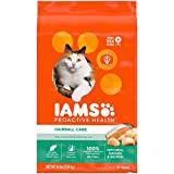 IAMS PROACTIVE HEALTH Adult Hairball Care Protein-Rich Hairball Control Dry Cat Food with Chicken and Salmon, 16 lb. Bag