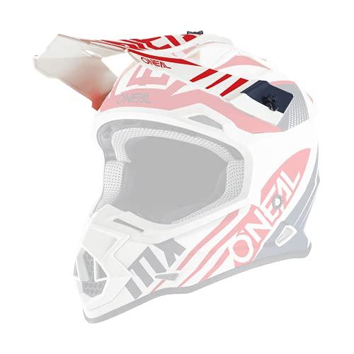 O'NEAL | Ricambio Visiera Casco Motocross | Motocross MX | Visiera di ricambio per il casco 2SRS Spyde 2.0 | Visiera 2SRS Casco Spyde 2.0 | Adulti | Blu Bianco Rosso