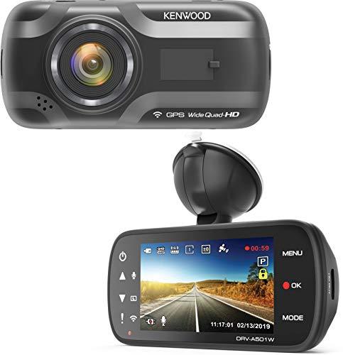 Kenwood DRV-A501W Wide Quad-HD-Dashcam mit 3-Achsen G-Sensor, GPS und Wireless Link, inkl. 16GB Micro SD-Karte