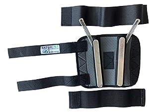 Nature Pet Premium Hunde Handgelenk Bandage/Karpalgelenk Schutz Bandage/Stützbandage für Hunde (M, Grau)