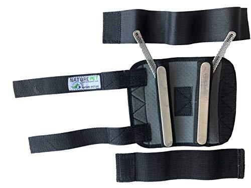 NATURE PET Premium Hunde Handgelenk Bandage/Karpalgelenk Schutz Bandage/Stützbandage für Hunde (L, Grau)