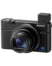 Sony Rx100 Vii Premium Compacte Digitale Camera (24-200Mm, F2.8-4.5 Zeiss Lens, Kantelbaar Lcd-Scherm, 4K Hdr, 1,0 Inch Sensor, Real-Time Tracking, Af Met Oogherkenning) (Dsc-Rx100M7), Zwart