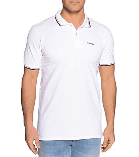 Ben Sherman Polo-Shirt Zeitloses Polo-Hemd für Herren T-Shirt Kurzarm-Shirt Freizeit-Shirt Weiß, Größe:S