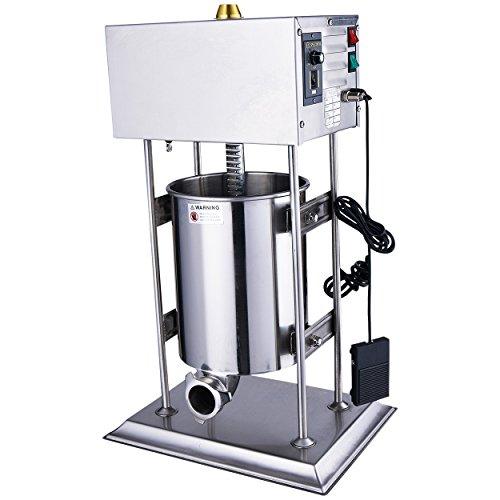 Wurstfüller Edelstahl Wurtspresse Wurtsfüllmaschine 10 Liter elektrisch 160 Watt