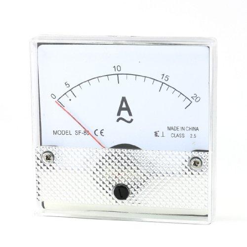 Aexit Klasse 2,5 Genauigkeit AC 0-20A Analoges Messgerät Weiß Klar Schwarz (2722e160004f517a1db2461a0dd3e4b2)