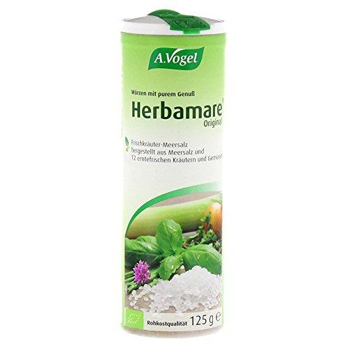A.Vogel - Herbamare (Frischkräuter-Meersalz aus der Camargue), 1er Pack (1 x 125g) - BIO