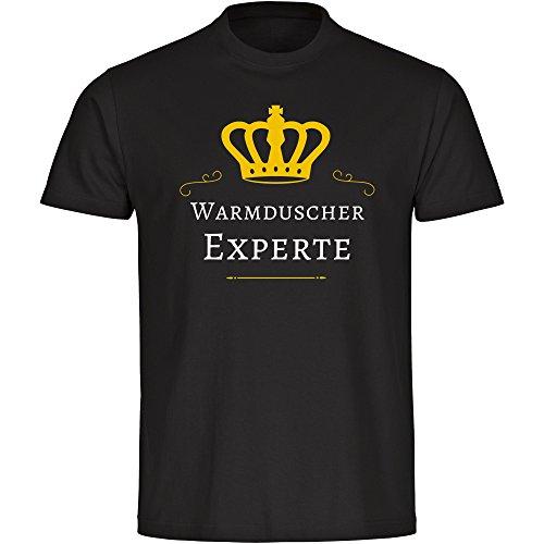 T-shirt warme douchegel expert zwart heren maat S tot 5XL