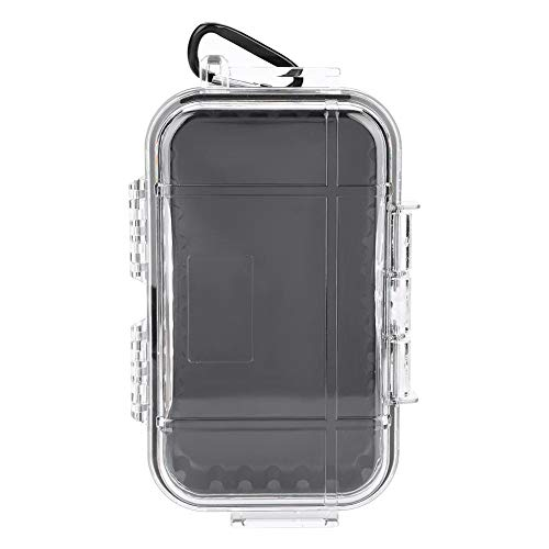 Alomejor Aufbewahrungskoffer Wasserdicht Stoßfester luftdichter Carry Box Container für Outdoor Sports(Transparent)