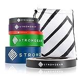 STRONGEAR® Premium Fitnessband mit Tasche und Trainingsanleitung PDF - Gymnastikband