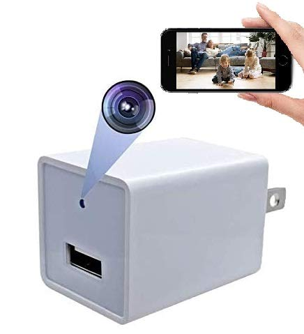 DENT USB Hidden Spy Charger Camera WiFi Live Streaming - 1080P HD Camcorder with Remote View, Motion Detection, Pet Nanny Spy Security Cam, Support 128GB SD