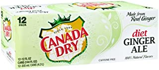 Canada Dry Diet Caffeine Free Ginger Ale - 12 oz Cans (1)