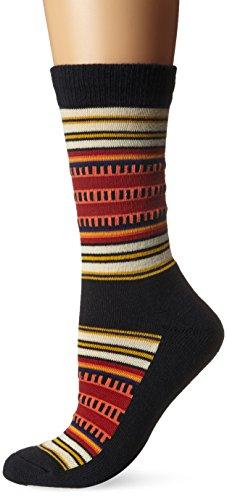 Pendleton Women's National Park Cotton Crew Socks, Black, Sock Size:10-13/Shoe Size: 6-12(6-10)