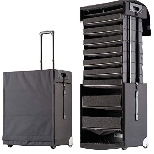 Pull Up Universal Case 86L Avantgarde - Suitcase for Hobby and Work - Extendable Case with Patented Pull Up Technology and Individually Adjustable Trays