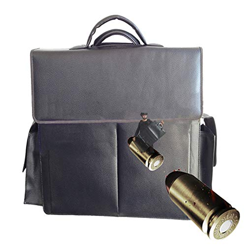 TBDLG Bull-etproof Black Attache Case, Stab and Waterproof Laptop Bag, Bring a Pistol Bag and a Magazine Bag, the Choice to Resist Danger, 44 * 33 * 8.5cm