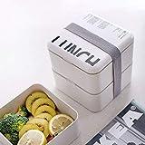 Macrame Wall Colgando Bento Box Set 2 Capa de caja de almuerzo con sopa de taza doble sellado Insulated portátil de almacenamiento de alimentos en un recipiente for microondas Vajilla Grifo