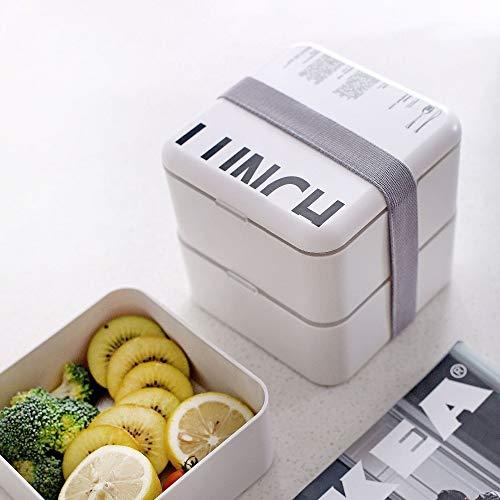 MEICHENG-DZ Erfrischendes Bento Box Set 2 Layer Lunch Box mit Suppe Tasse Doppel beweglichen Nahrungsmittelvorratsbehälter Microwavable Essgeschirr Isolierte Sealed einfach