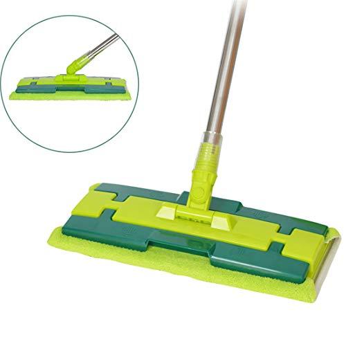 GIYL Flat Floor Mop Microfiber Dust Mop Verwijder Stofzuiger snel van Vloeren met 2 Microvezel Pad voor Hardhout Vloer, Hout, Laminaat, Tegel