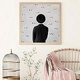 HAIBAOSMS Cartel Sombrero Cuadros traseros Pinturas Pintura abstracta sobre lienzo Decoración para el hogar Arte de la pared Espalda Artística Decoración del hogar-no_frame_60x60cm_A