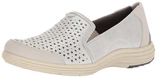 Aravon Women's Bonnie-AR Fashion Sneaker, Silver, 8.5 Narrow