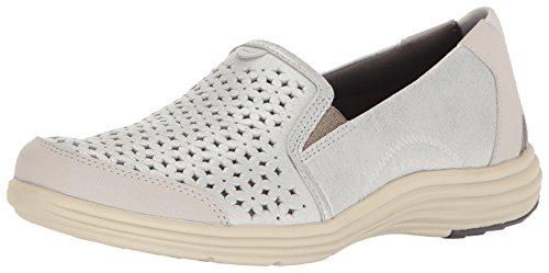 Aravon Women's Bonnie-AR Fashion Sneaker, Silver, 6.5 2E US