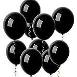 O-Kinee Ballon Noir, 100 Ballons Baudruche Noir Gonflable Latex-30cm pour Mariage Fête Anniversaire Soirée Décoration