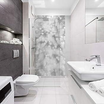 Mur blanc Panneau de Douche d/écoratif Industriel 90x210cm Rev/êtement mural salle de Bain ID panneaux