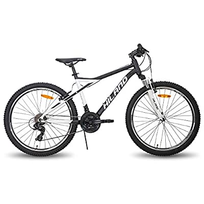 Hiland 26 Inch Mountain Bike 21Speed for Adult with Suspension Fork