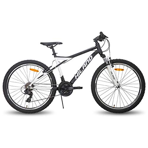 Hiland 26 Inch Mountain Bike for Women 21Speed MTB Bicycle 18 Inch Suspension Fork Urban Commuter City Bicycle White&Black