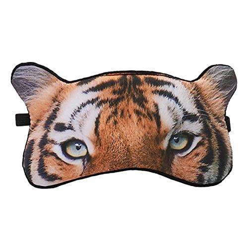 JFCXBSSL Máscara de ojo de dibujos animados Animal Tigre Fox Máscara de ojo Sombreado sueño relajante Protección de ojos transpirable