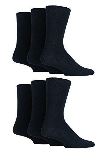 SockShop Herren Diabetiker-Socken mit sanftem Handgriff, Wabenstruktur, nicht elastisch, Größe 39–45, 6 Stück, Diabetic Gentle Grip, Schwarz, Diabetic Gentle Grip