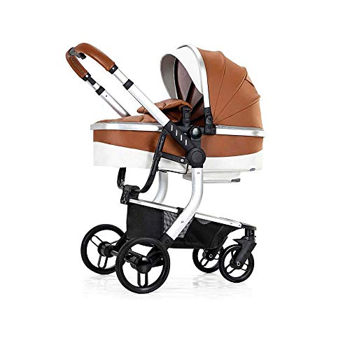 Lowest Price! KOIUJ Landscape Baby Stroller Can Sit and Lie Baby Stroller Reversible All Terrain Sel...