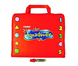 Brightly coloured, soft padded case opens out into a dual sided drawing toy Ideal for on-the-go, no-mess creative play Aquadraw pen stored inside Once they have filled one side with pictures, they can turn over and use the other side Pictures fade as...