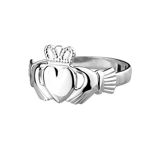 Claddagh Ring Sterling. Irischer Freundschaftsring. Silber Größe 53