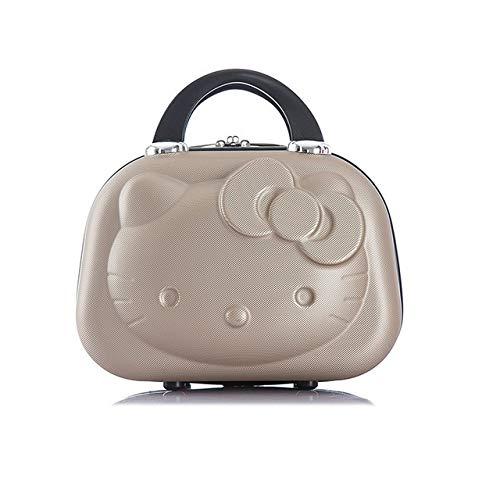 Multifunción Caliente de la manera ABS impermeabilizan Maleta neceser de Hello Kitty Diseño maleta del recorrido puede ajustarse caja de la carretilla compone la caja (Color : A5)