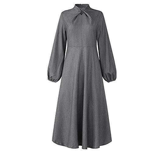 N\P Vestido de mujer de manga larga para verano