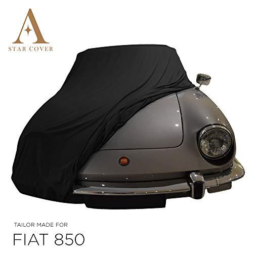 Telo COPRIAUTO da Interno su Misura per Fiat 850 Spider Nero GARAGECOVER vestibilità Perfetta E Cover su Misura Consegna Rapida