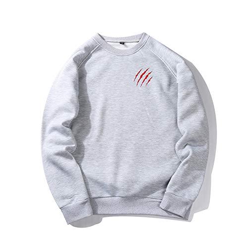 Herbst/Winter Herren LäSsig Einfarbig Bedruckter Pullover Loose Sweatshirt Sweater