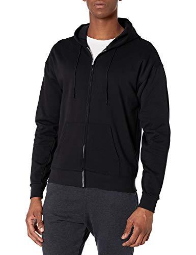 Hanes Men's Big and Tall Full-Zip Eco-Smart Fleece Hoodie, Black, 3X-Large