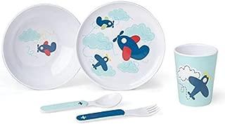 Reed & Barton Zoom Zoom 5 Piece Melamine Dinnerware Set