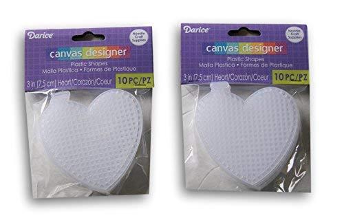 Darice Plastic Canvas No. 7 Heart - 3 - 20pc