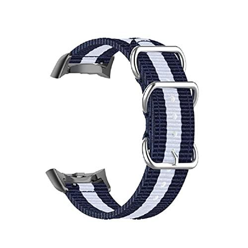 hgfcdd Correa de nailon ajustable compatible con Gear S2 SM-R730 SM-R720 Pulsera de reloj para hombres y mujeres