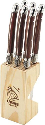 Laguiole Style de Vie Steakmesser Premium Line, 6-teilig, Holzfarbe