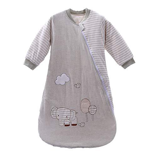Baby-Schlafsack, Baumwolle, Elefanten-Schlafsack, lange Ärmel, tragbare Decken, Unisex, für Kleinkinder, Schlafsack, für den Winter, 0-12 Monate