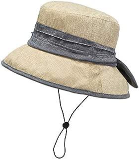 CHENDX Hat Female Wild Sunscreen Fisherman Hat Summer Bike Anti-UV Visor Hat Big Edge Cover Face Collapsible Sun Hat (Color : Beige)