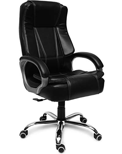GreenSoul® Vienna High-Back Leatherette Executive Office Ergonomic Chair (Black)