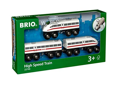 BRIO- High Speed Train Tren Juego Primera Edad, Multicolor, 3 a&ntildeos (33748)