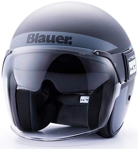 Blauer HT Casque Pod Stripes Black-Titanium-White Matt M